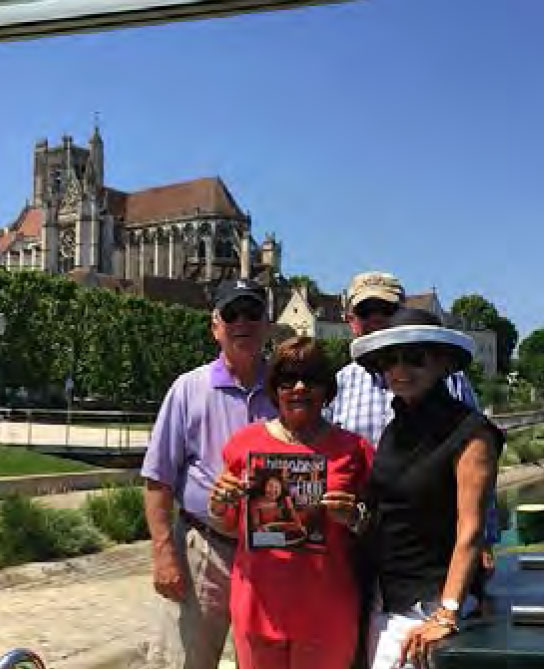 Barbie and Spence Stouffer and Judy and Neil Sullivan with Hilton Head Monthly in Auxerre, France.
