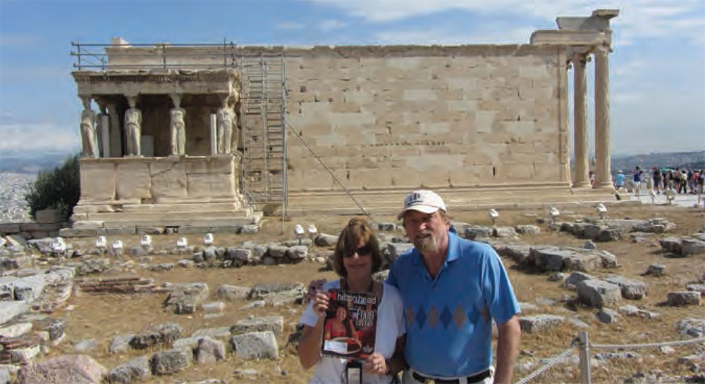 Joanne Voulelis And Kevin Kelso took Monthly to the Temple of Athenia Nike in Greece.