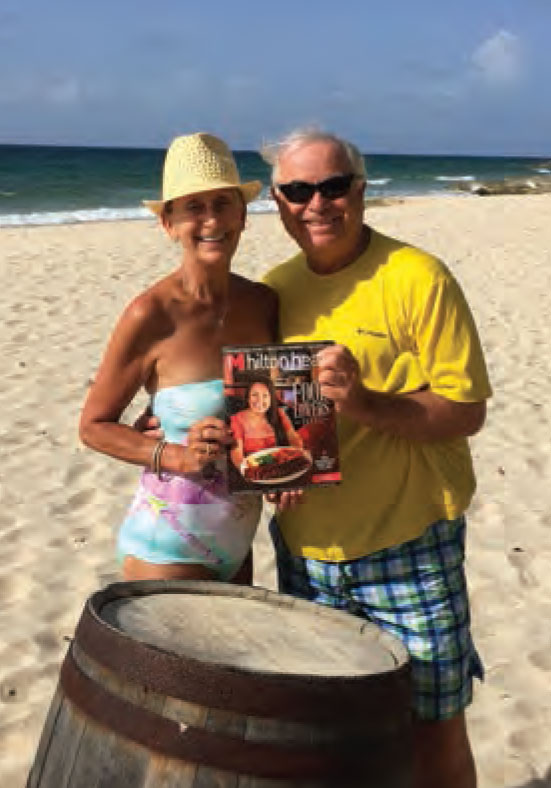 Tom Klein and Pam Young of Hilton Head Plantation celebrated their wedding anniversary with Monthly in St. Croix, U.S. Virgin Islands.