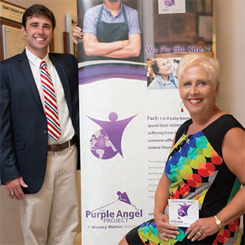 Memory Matters executive director Edwina Hoyle is showing with Daniel Lentz, who heads up the Purple Angle Project.
