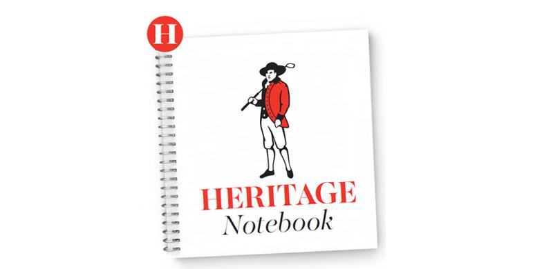 heritage notebook