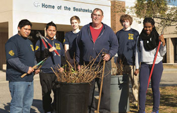 Volunteer helps Hilton Head High blossom with recycled plants