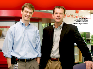 Andrew Rein, left, and Chris McCorkendale are committed to top-notch service for Hargray customers.