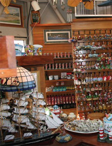 trinkets & treasures in the gift shop