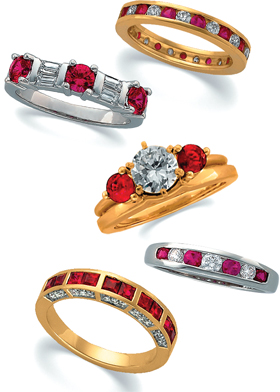 Ruby Rings Collection handcrafted by Patty Catalano.