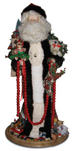 This handmade Candy Cane Classic Santa is a one-of-a-kind item specially created by Nancy Butts for the event.