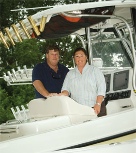 Charles and Sheri Getsinger, the owners and co-captains of the Hilton Head Boating Center.
