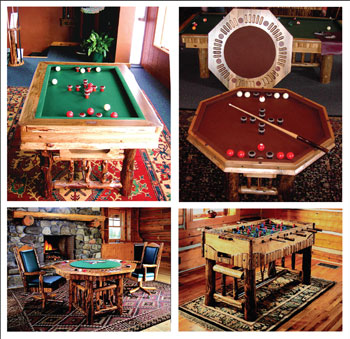 Use your gaming table as a visual centerpiece in the game room.
