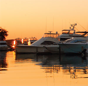 Fair weather and mild winters bring yachts to the waters of Hilton Head Island.