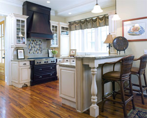 Bring the outside in with large windows in the kitchen and formaldehyde-free cabinetry. Custom cabinetry can be built using eco-friendly building products such as formaldehyde-free wood. Call Wilmington Cabinet Company at (843) 815-9222.