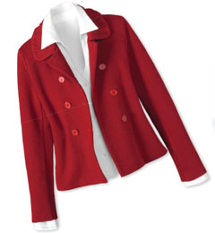 This Ruffled Collar Jacket is perfect with a pencil skirt, soft velvet pants or jeans