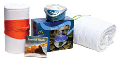 Spa blanket, pillow as well as the Aroma-Space and Essential Touch CD make the perfect gift for the spa-lover