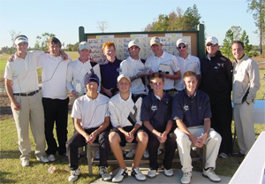 december 2008 55 The USCB Sand Sharks men's team won out over a strong competitive field of college teams at the first J. Lindeberg-USCB Sand Sharks Classic golf tournament Nov. 8-9.