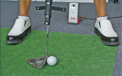 The TOMI records critical parameters of the putting stroke, showing the golfer and the instructor what needs to be corrected in a player's stroke.